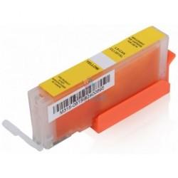 Kompatibilný Canon CLI-571 / CLI571 Y Yellow - žltá cartridge s čipom - 12 ml