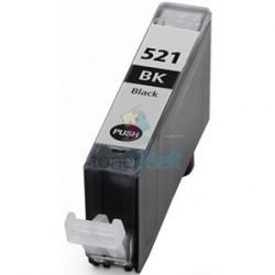Kompatibilný Canon CLI-521 / CLI521 BK Black - čierna cartridge s čipom - 15 ml