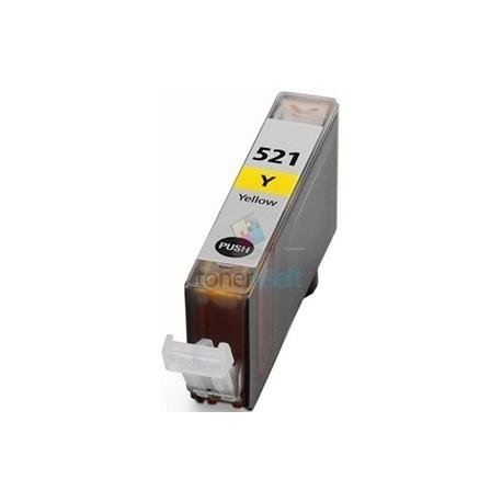 Kompatibilný Canon CLI-521 / CLI521 Y Yellow - žltá cartridge s čipom - 15 ml