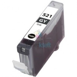 Kompatibilný Canon CLI-521 / CLI521 G Grey - sivá cartridge s čipom - 15 ml
