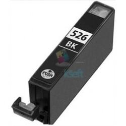 Kompatibilný Canon CLI-526 / CLI526 BK Black - čierna cartridge s čipom - 15 ml