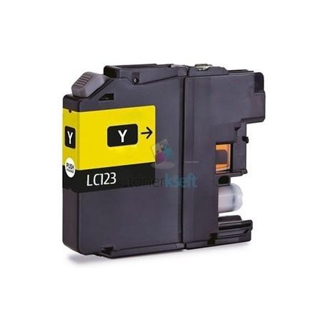Kompatibilný Brother LC-123 / LC123 XL Y Yellow - žltá cartridge s čipom - 15 ml