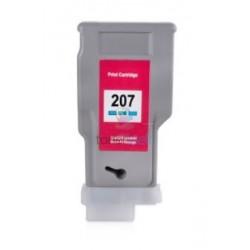 Kompatibilný Canon PFI-207C / PFI207C (8790B001) Cyan - modrá cartridge s čipom - 300 ml