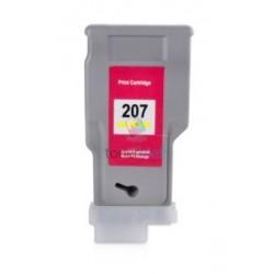 Kompatibilný Canon PFI-207Y / PFI207Y (8792B001) Yellow - žltá cartridge s čipom - 300 ml