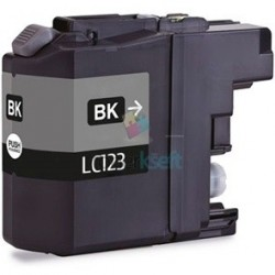 Kompatibilný Brother LC-123 / LC123 XL BK Black - čierna cartridge s čipom - 20 ml