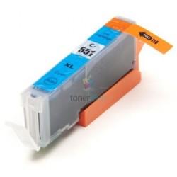 Kompatibilný Canon CLI-551 / CLI551 C Cyan - modrá cartridge s čipom - 15 ml
