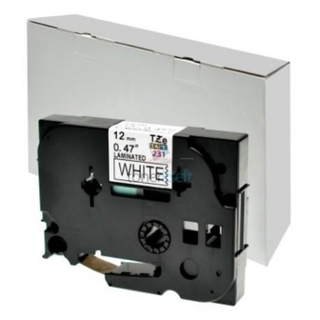 Brother TZe-231 / TZe231 - páska 12mm x 8m čierny tlač / biely podklad, laminovaná kompatibilný