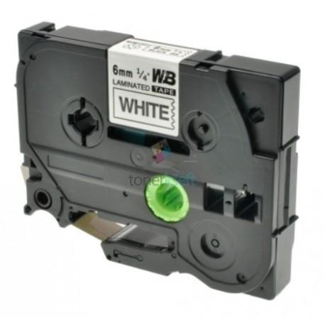 Brother TZe-211 / TZe211 - páska 6mm x 8m čierny tlač / biely podklad, laminovaná kompatibilný