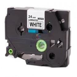 Brother TZe-251 / TZe251 - páska 24mm x 8m čierny tlač / biely podklad, laminovaná kompatibilný