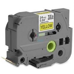 Brother TZe-651 / TZe651 - páska 24mm x 8m čierny tlač / žltý podklad, laminovaná kompatibilný