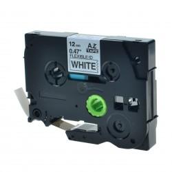 Brother TZe-FX231 / TZeFX231 - páska 12mm x 8m čierny tlač / biely podklad, laminovaná flexibilná kompatibilný