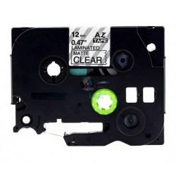 Brother TZe-M31 / TZeM31 - páska 12mm x 8m čierny tlač / priesvitný matný podklad, laminovaná kompatibilný