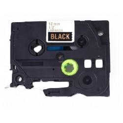 Brother TZe-334 / TZe334 - páska 12mm x 8m zlatý tlač / čierny podklad, laminovaná kompatibilný