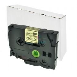 Brother TZe-831 / TZe831 - páska 12mm x 8m čierny tlač / zlatý podklad, laminovaná kompatibilný
