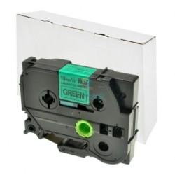 Brother TZe-741 / TZe741 - páska 18mm x 8m čierny tlač / zelený podklad, laminovaná kompatibilný