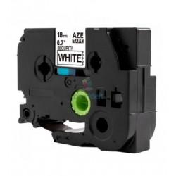 Brother TZe-SE4 / TZeSE4 - páska 18mm x 8m čierny tlač / biely podklad plombovacie bezpečnostné, laminovaná kompatibilný