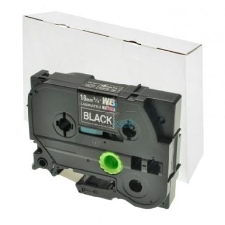 Brother TZe-345 / TZe345 - páska 18mm x 8m biely tlač / čierny podklad, laminovaná kompatibilný