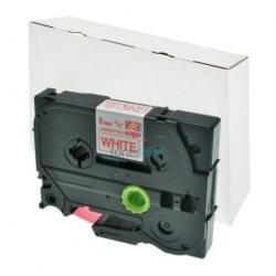 Brother TZe-222 / TZe222 - páska 9mm x 8m červený tlač / biely podklad, laminovaná kompatibilný