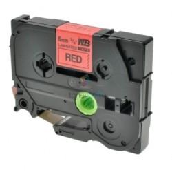 Brother TZe-411 / TZe411 - páska 6mm x 8m čierny tlač / červený podklad, laminovaná kompatibilný