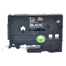 Brother TZe-315 / TZe315 - páska 6mm x 8m biely tlač / čierny podklad, laminovaná kompatibilný