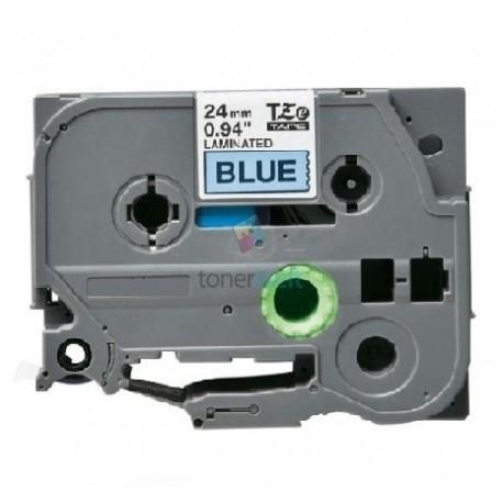Brother TZe-551 / TZe551 - páska 24mm x 8m čierny tlač / modrý podklad, laminovaná kompatibilný