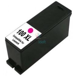 Lexmark 100 XL / 100XL 14N1070E M Magenta - červená kompatibilná cartridge s čipom -16 ml