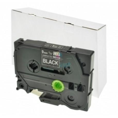 Brother TZe-325 / TZe325 - páska 9mm x 8m biely tlač / čierny podklad, laminovaná kompatibilný