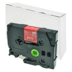 Brother TZe-435 / TZe435 - páska 12mm x 8m biely tlač / červený podklad, laminovaná kompatibilný
