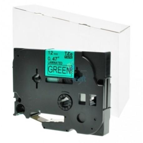 Brother TZe-731 / TZe731 - páska 12mm x 8m čierny tlač / zelený podklad, laminovaná kompatibilný