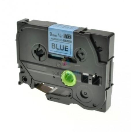 Brother TZe-521 / TZe521 - páska 9mm x 8m čierny tlač / modrý podklad, laminovaná kompatibilný