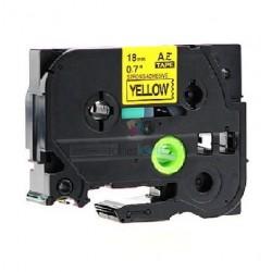 Brother TZe-S641 / TZeS641 - páska 18mm x 8m čierny tlač / žltý podklad, laminovaná extrémne adhezívny kompatibilný