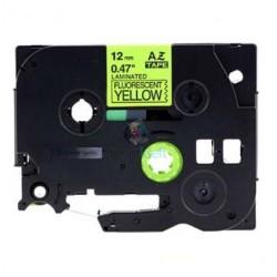 Brother TZe-C31 / TZeC31 - páska 12mm x 8m čierny tlač / signálny žltý podklad, laminovaná kompatibilný