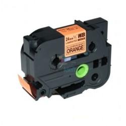 Brother TZe-B51 / TZeB51 - páska 24mm x 8m čierny tlač / signálny oranžový podklad, laminovaná kompatibilný