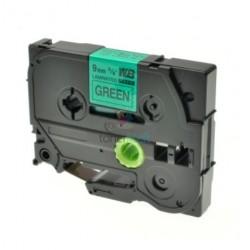 Brother TZe-721 / TZe721 - páska 9mm x 8m čierny tlač / zelený podklad, laminovaná kompatibilný