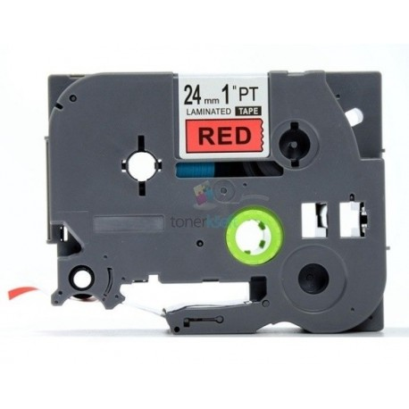 Brother TZe-451 / TZe451 - páska 24mm x 8m čierny tlač / červený podklad, laminovaná kompatibilný