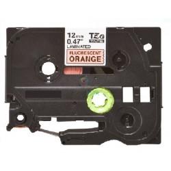 Brother TZe-B31 / TZeB31 - páska 12mm x 8m čierny tlač / signálny oranžový podklad, laminovaná kompatibilný
