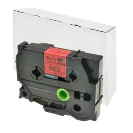 Brother TZe-441 / TZe441 - páska 18mm x 8m čierny tlač / červený podklad, laminovaná kompatibilný