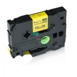 Brother TZe-FX621 / TZeFX621 - páska 9mm x 8m čierny tlač / žltý podklad, laminovaná flexibilná kompatibilný