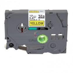 Brother TZe-FX631 / TZeFX631 - páska 12mm x 8m čierny tlač / žltý podklad, laminovaná flexibilná kompatibilný