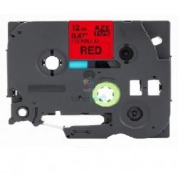 Brother TZe-FX431 / TZeFX431 - páska 12mm x 8m čierny tlač / červený podklad, laminovaná flexibilná kompatibilný