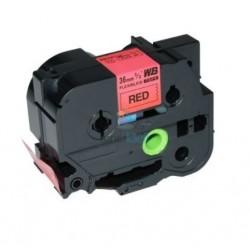 Brother TZe-FX461 / TZeFX461 - páska 36mm x 8m čierny tlač / červený podklad, laminovaná flexibilná kompatibilný