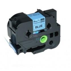 Brother TZe-FX561 / TZeFX561 - páska 36mm x 8m čierny tlač / modrý podklad, laminovaná flexibilná kompatibilný