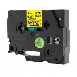 Brother TZe-C21 / TZeC21 - páska 9mm x 8m čierny tlač / signálny žltý podklad, laminovaná kompatibilný