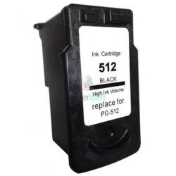 Kompatibilný Canon PG-512 / PG512 BK Black - čierna cartridge s čipom - 16 ml