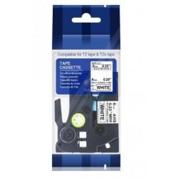 Brother HSe-211 / HSe211 - páska 6mm x 1,5m čierny tlač / biely podklad, zmršťovacia bužírka kompatibilný
