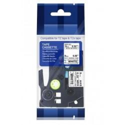 Brother HSe-221 / HSe221 - páska 9mm x 1,5m čierny tlač / biely podklad, zmršťovacia bužírka kompatibilný