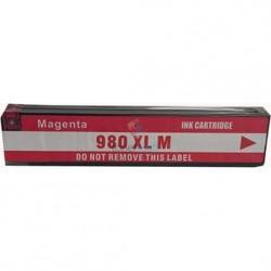 HP 980 XL / HP č.980 XL (D8J08A) M Magenta - červená kompatibilná cartridge s čipom - 120 ml