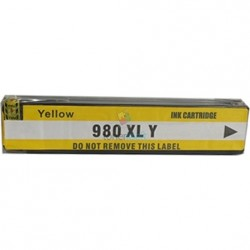 HP 980 XL / HP č.980 XL (D8J09A) Y Yellow - žltá kompatibilné cartridge s čipom - 120 ml