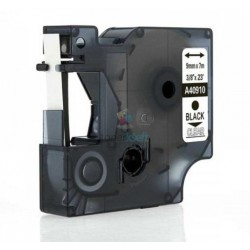 Dymo 40910 D1 (S0720670) - páska 9mm x 7m čierny tlač / priehľadný podklad kompatibilný