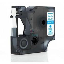 Dymo 40911 D1 (S0720510) - páska 9mm x 7m modrý tlač / priehľadný podklad kompatibilný